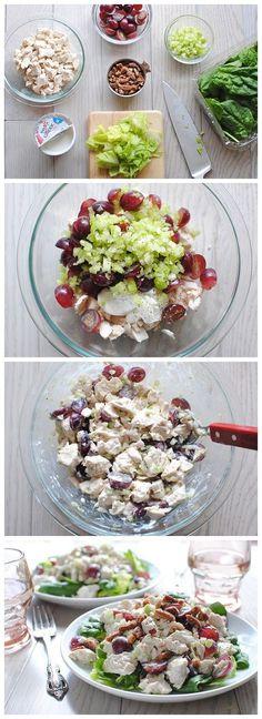 Basically a healthy version to a chicken salad sandwich. but still good :) ...Greek Yogurt Chicken Salad