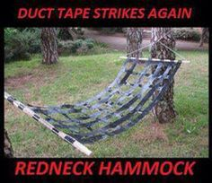 'Duct' dynasty. A reality tv show where some crazy bearded rednecks sell duct tape hammocks #lol #duckdynasty