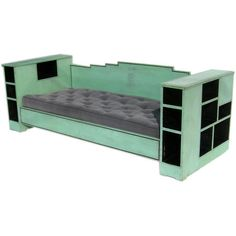 1920's Skyscraper Daybed | From a unique collection of antique and modern day beds at http://www.1stdibs.com/furniture/seating/day-beds/