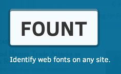 Fount: Identify web fonts on any site