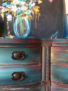 Gorgeous Bohemian Blue Dresser - Buffet