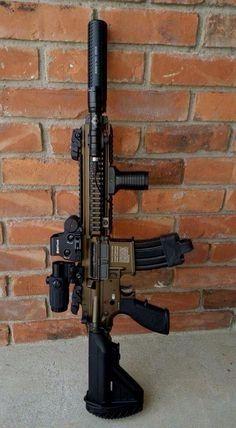 cute guns for women Military Weapons, Weapons Guns, Guns And Ammo, Tactical Rifles, Firearms, Shotguns, M4 Airsoft, Battle Rifle, Custom Guns