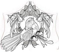 Outline Drawings, Bird Drawings, Tattoo Drawings, Neo Traditional, Traditional Tattoo, Snake Outline, Snake Drawing, E Tattoo, Tattoo Illustration