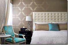 Turquoise+Aqua+bedroom+interior+design+-+decor+-+-+bedroom+design+-+interiors+via+design+ties.jpg 347×234 pixels