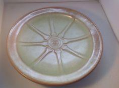 Frankoma Wagon Wheel Prairie Green Dinner Plate 94FL  #Frankoma