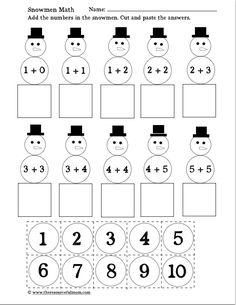Snowman Math (free printable)