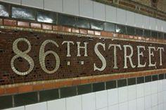 86th St. subway mosaic station marker. New York, NY