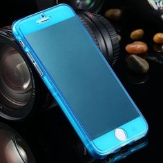 Transparent Slim TPU Soft Flip Case For iPhone 7 6S Plus Clear Gel Cover For iPhone 7 Plus 6S 6 Plus Crystal Full Coverage Cover