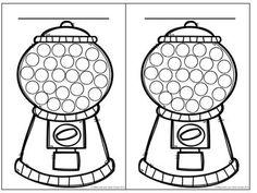 Colorie une boule de gomme - système de gestion de comport
