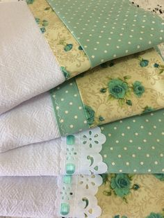 Dish Towels, Tea Towels, Sewing Case, Assemblage, Kitchen Towels, Baby Quilts, Pot Holders, Couture, Patches