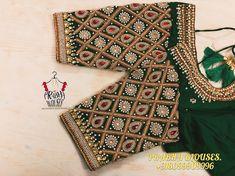 Wedding Saree Blouse Designs, Pattu Saree Blouse Designs, Blouse Designs Silk, Blouse Neck Designs, Sleeve Designs, Maggam Work Designs, Stylish Blouse Design, Maggam Works, Work Blouse