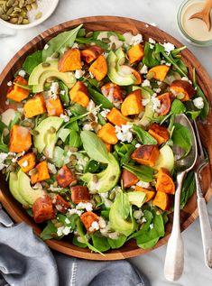 Salad With Sweet Potato, Potato Salad, Fall Recipes, Whole Food Recipes, Curried Lentil Soup, French Green Lentils, Vegetarian Recipes, Healthy Recipes, Avocado Recipes