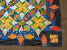 Gypsy Dreamer Quilts Bonnie Hunter Celtic Solstice Mystery Quilt variation on border  by Liz