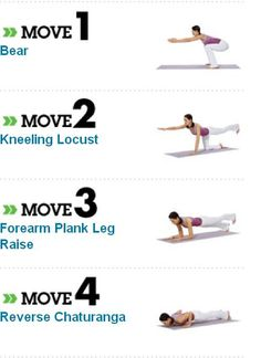 Quick yoga routine. Looks like a good core workout.