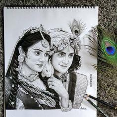 Radha Krishna Sketch, Krishna Drawing, Radha Krishna Photo, Krishna Painting, Krishna Art, Lord Krishna Sketch, Lord Krishna Images, Radha Krishna Pictures, Krishna Photos
