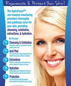 Rejuvenate and protect your #skin with #HydraFacial!  #SkinCare