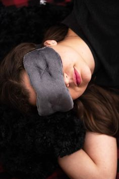 Contoured Sleep Mask, super plush and comfortable. Luxurious fabric and made in the USA. Custom designed for comfort and to be not too heavy on the face. The light strap will work with short or long hair. Slightly weighted for better rest.