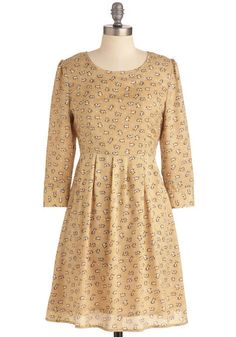 """Between Me and Mew Dress, #ModCloth  Nothing like a dress with little cats all over it! Pair it with aforementioned black boots and your ready to """"Rockat Roll"""""""