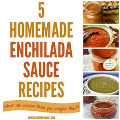 5 Homemade Enchilada Sauce Recipes (that are easier than you might think) #recipes #enchiladas #mexicanfood