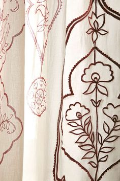 Slide View: 3: Jazmin Embroidered Curtain