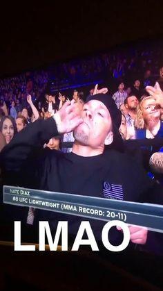 Nate Diaz in the crowd tonight Diaz Brothers, Nate Diaz, Ultimate Fighting Championship, Dojo, Ufc, Martial Arts, Respect, Crowd, Ganja