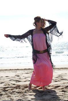 Vestito Lungo Maxi Dress Donna Mare Bandeau di BeHappieWorld