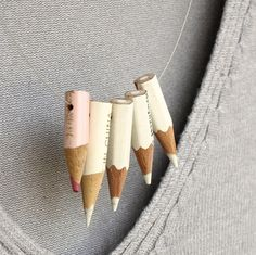 color pencil necklace  White Cloud  vintage by KarolinfelixDream