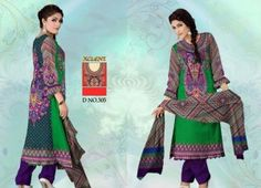 Latest Linen Winter Wear Dresses Style 2015 For Girls By Al-Hamra Textile (1)