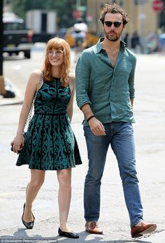 So in sync! Jessica Chastain and her boyfriend Gian Luca Passi de Preposulo stepped out in...