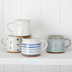 Fair Trade Earthenware Mug Stripy: Slip glazed earthenware mugs that are just the right size to make sure your coffee doesnt get cold whilst you read the papers!