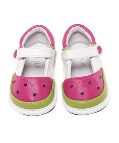 Another great find on #zulily! Fuchsia & Lime Watermelon Leather Mary Jane #zulilyfinds