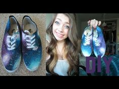 DIY: Galaxy Shoes! - YouTube Apparently these only cost $25 for shoes and materials....not bad