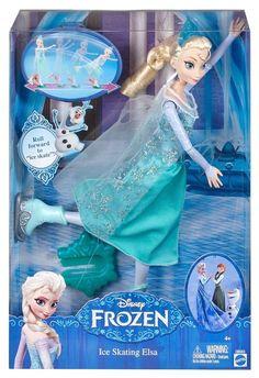 Disney Frozen Ice skating Elsa doll, actually skates! Hottest Christmas toy, New #Disney