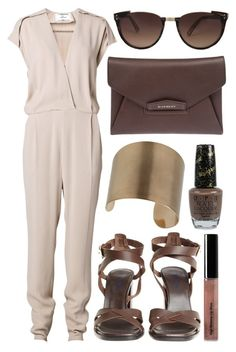 """street style"" by sisaez ❤ liked on Polyvore featuring By Malene Birger, Bobbi Brown Cosmetics, Wallis, OPI, Givenchy and Linda Farrow"