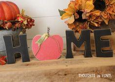 Interchangeable Home Letters {apple} or pumpkin