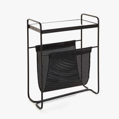 STYLECASTER   Zara Home Spring Shopping Roundup   Zara metal side table with magazine rack Black Sofa Living Room, Living Room Shelves, Shelves In Bedroom, Living Room Storage, Small Living Rooms, Home Living Room, Table Storage, Zara Home Coffee Table, Simple Coffee Table