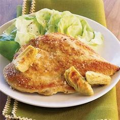 Chicken and Artichokes in a White Wine Sauce   White Wine Sauces, Wine ...