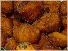 Bilharacos. Portuguese Squash/pumpkin fritters. Traditional Portuguese Christmas dessert.