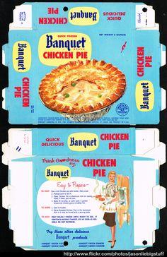 Banquet - Chicken Pie - frozen dinner package box - Marathon printer sample - 1962 | Flickr - Photo Sharing!