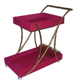 The Society Social Tipple Trolley in Pink and Gold