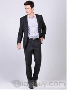Slim Fit Sartorial 2 Button Wedding Suit (Two Piece Set) : Tidebuy.com