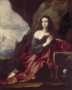 RIBERA. Magdalena penitente.  1641.Museo del Prado