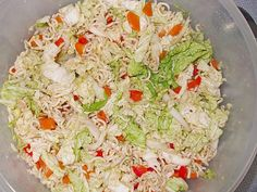 Yum Yum – Salat Yum Yum – Salad (recipe with picture) by Fruit Recipes, Summer Recipes, Asian Recipes, Ethnic Recipes, Yum Yum Salat, Fresco, Best Pasta Salad, Healthy Salads, Kebabs