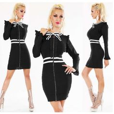 Business Kleid von agfashion.de Boutique Fashion, Sexy, Dresses With Sleeves, Long Sleeve, Young Fashion, Black, High Shoes, Black Colors, Fashion Styles