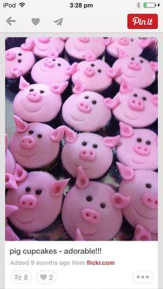 Cool pig cupcakes