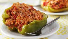 Pour accompagner vos plats voila une recette si facile avec le cookeo pour réaliser les poivrons farcis.