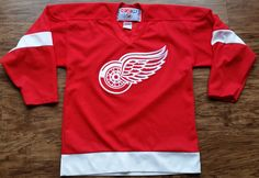Detroit Red Wings CCM Jersey Vintage NHL Hockey Youth Boys Large XL