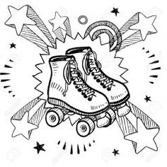 Find Doodle Style Sketch Rollerskates On Pop stock images in HD and millions of other royalty-free stock photos, illustrations and vectors in the Shutterstock collection. Thousands of new, high-quality pictures added every day. Colouring Pages, Coloring Sheets, Roller Skating Party, Skate Party, Free Doodles, Roller Derby Skates, E Skate, Son Luna, Arte Pop