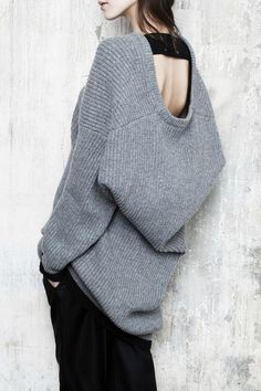 Scoop back cozy knit #style #fashion