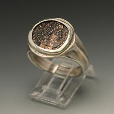 ancient coin ring sterling silver men's ring size 10.5 by ealon